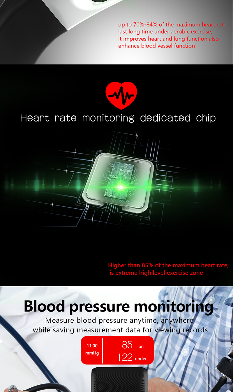 F07 Plus Smart Bracelet Color Screen IP68 Waterproof Heart Rate Fitness Tracker with Blood Pressure Monitor Smart Wristband