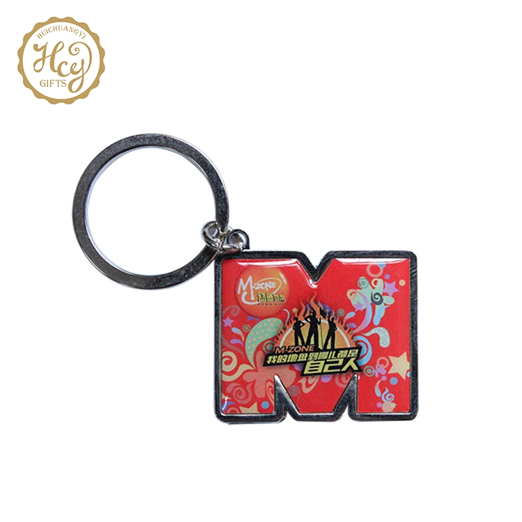 High Quality Fashion Custom Logo Printed Custom Shape Keychain Promotional