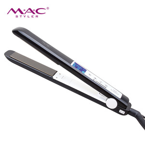 2019 New Style LCD Display Personalized Hair Straightener Hair Flat Iron Promotion Electric Custom Hair Straightener