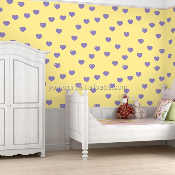 Personalized custom print vinyl wallpaper for kids bedroom decoration