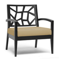 hollow wood back arm chair design for hotel reception XYN1551
