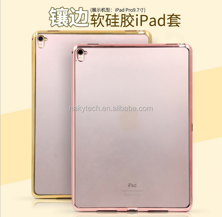 Europe and America hot sale luxury electroplating TPU and Laser Carving pictures case for Ipad mini 1\2\3\4