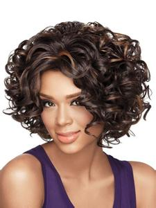 machine made custom short body wave virgin human hair wig with spring curls for black women