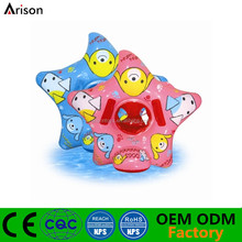 Star shaped PVC inflatable children floating seat inflatable baby boat for pool toys