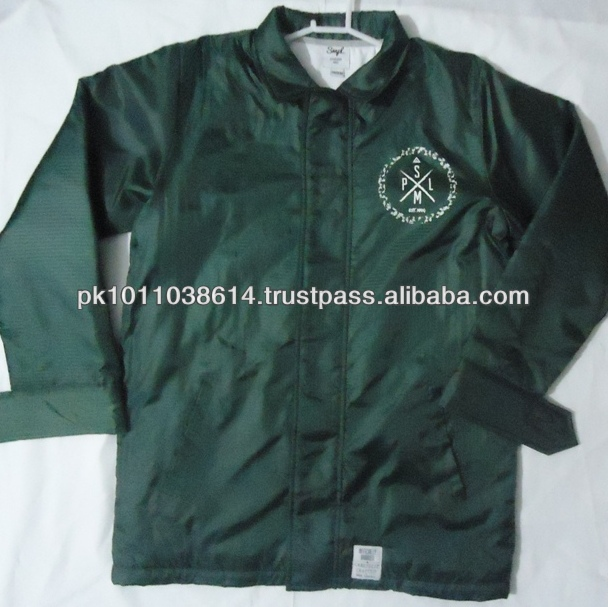 Sports coaches jackets witn printing logo wholesale