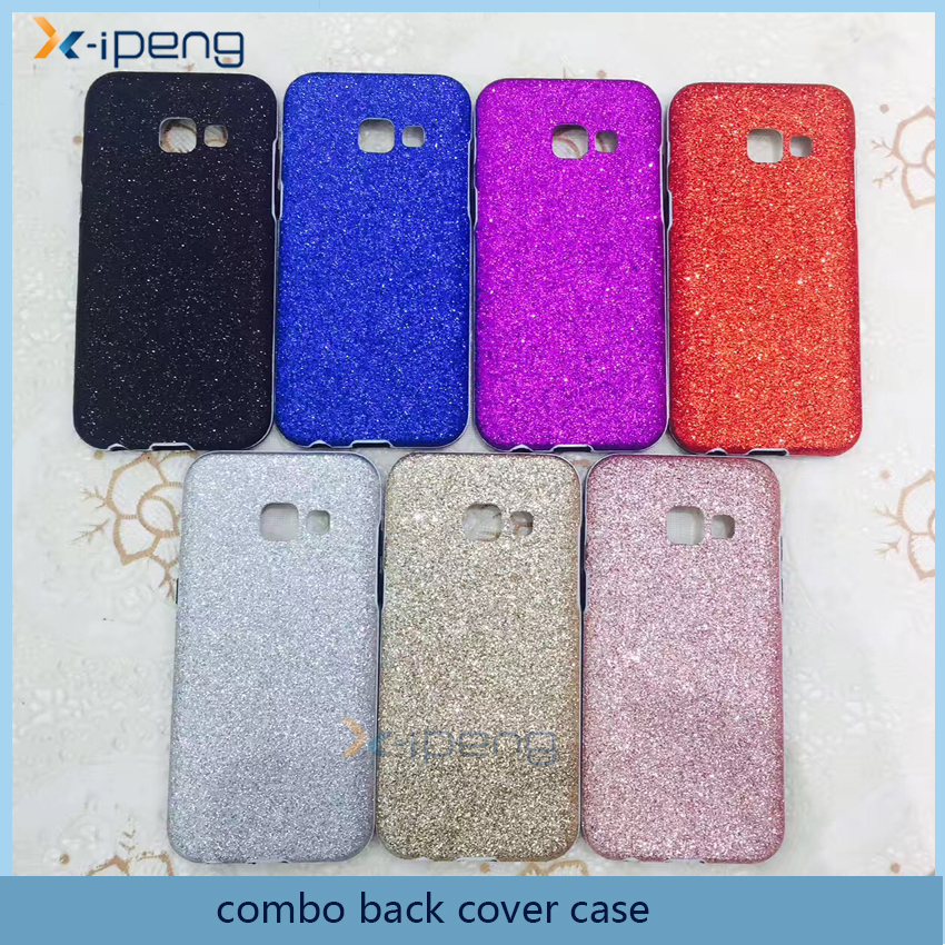 Factory in China wholesale leather mobile phone shinning phone case for samsung J5 2017