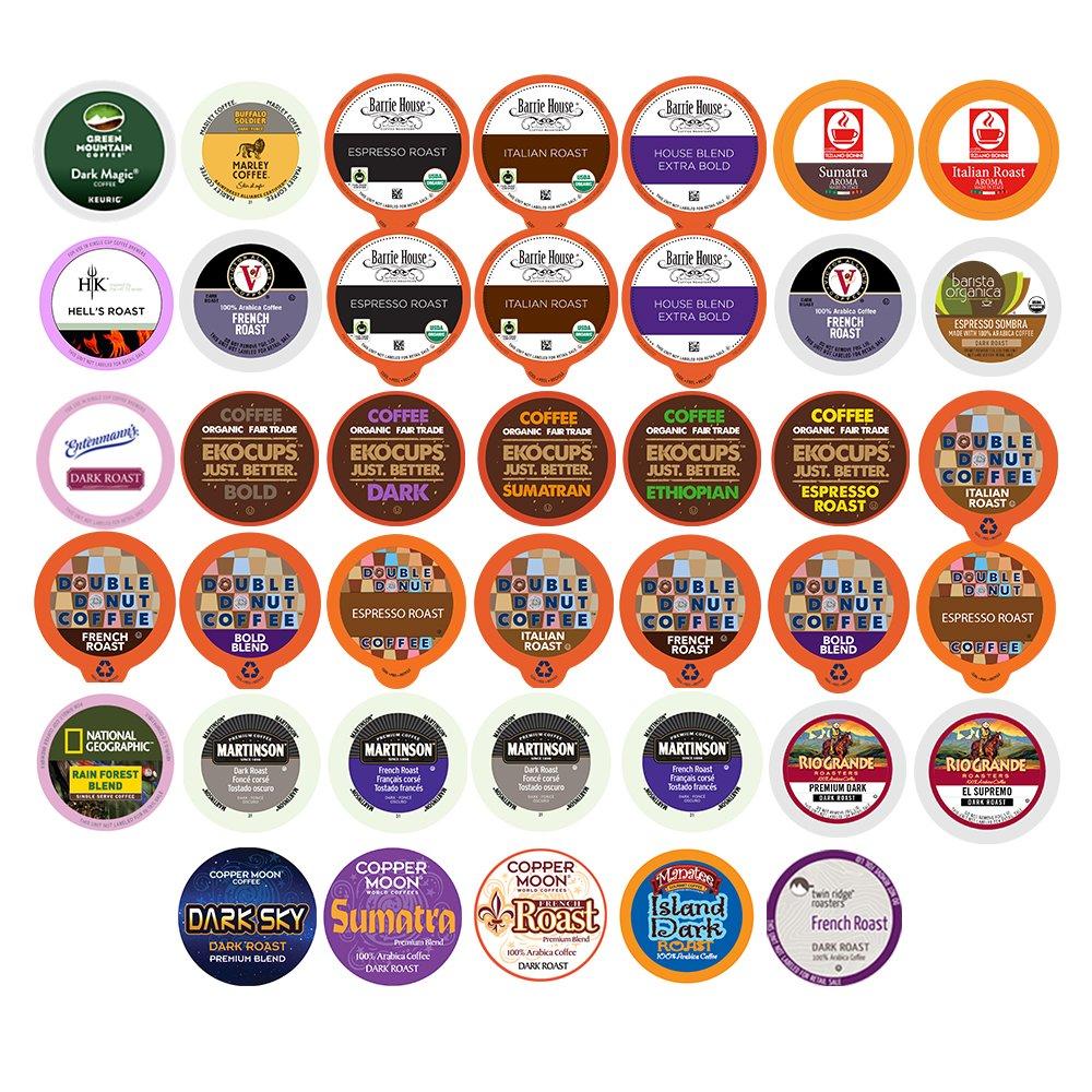 40-count BOLD & DARK ROAST COFFEE Single Serve Cups For Keurig K Cup Brewers Variety Pack Sampler (Bold Sampler)