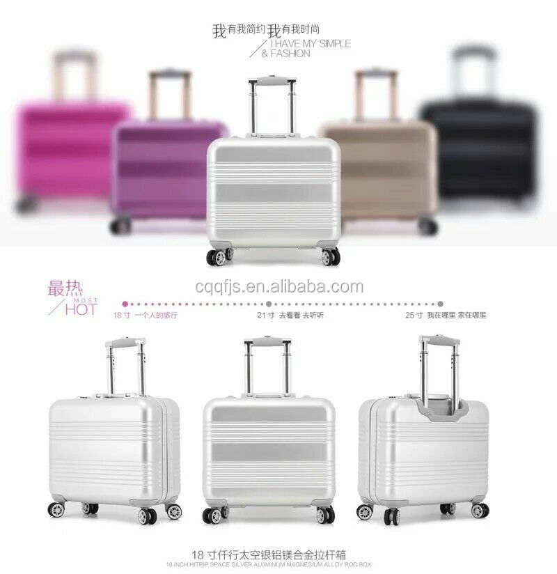 cheap stock aluminum suitcase for kids trolley carry-on