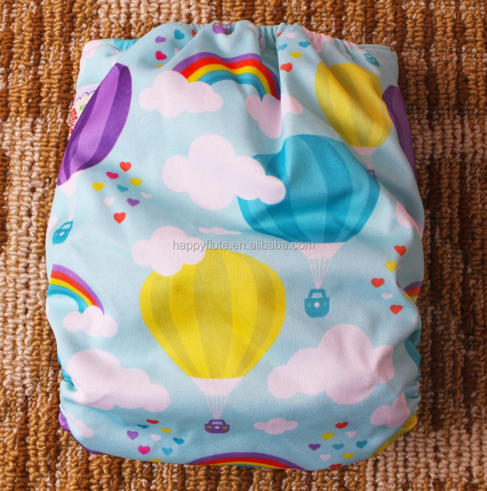 Happy Flute Organic Bamboo Baby Cloth Diapers Pocket Reusable ...