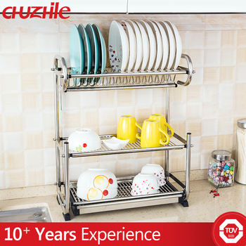 Easy To Clean Stainless Steel Kitchen Utensil Rack Dish