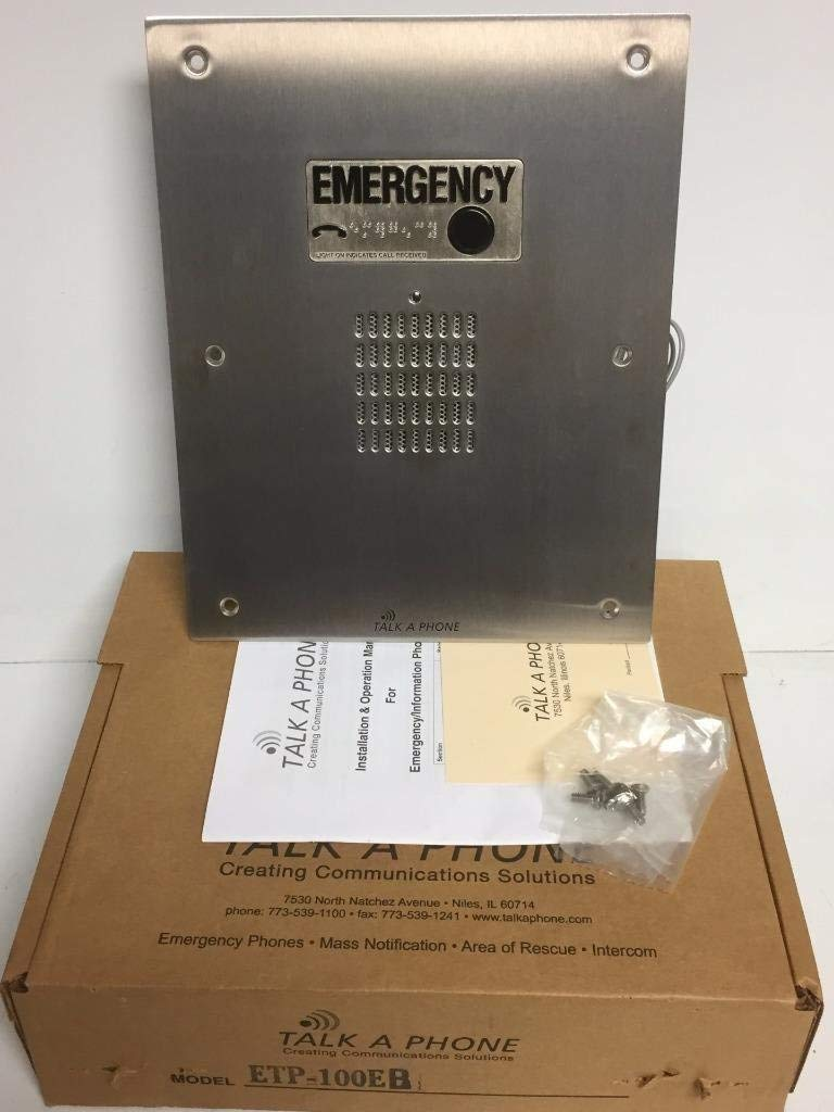 Talk-A-Phone - ETP100EB - ADA compliant, hands-free indoor emergency phone, flush mounted, no face