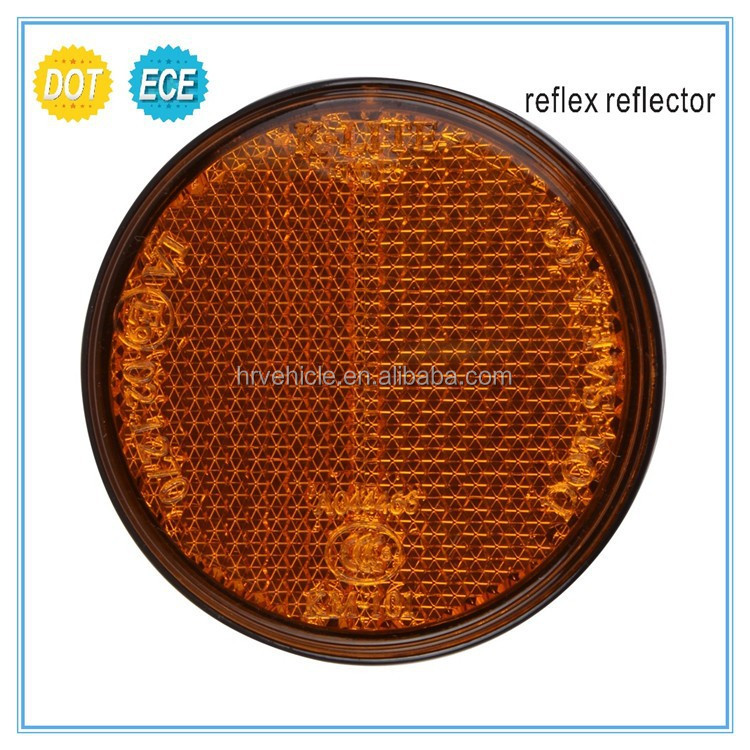 round reflector for motorcycle, motorbike reflex reflector with E-MARK DOT approval
