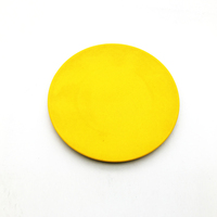 Eco-Friendly Reusable BIO Elegant Bamboo Fiber Round Serving Plates With Different Color