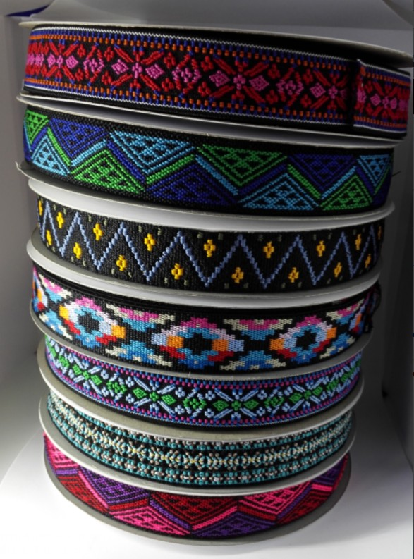 High Quality Eco-Friendly 25mm Nylon Sewing Jacquard Adjustable Elastic hair Band