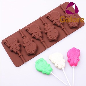 Custom Made Lollipop Chocolate Silicone Molds For Sweets