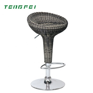 New Products Colorful Good Quality ABS Bamboo weaving Bar Stool