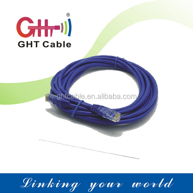 Plug in and play, easy for using.patch cord 1m cat5e UTP rj45 cable CCA 85HDPE insulation PVC jacket