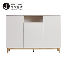 Modern Luxury Home High Gloss White Wood Buffet Furniture Sideboard Cabinet