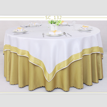 Luxury Polyester Round Table Cloth Rectangular Tablecloth Hotel