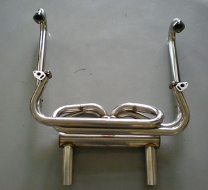 Full Stainless Steel 304 Exhaust Manifold Header For VW Aircooled Beetle Type 1 & Ghia 1300-1600cc 66-73
