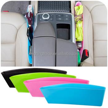 Catch Catcher Box Caddy Car Seat Slit Gap Pocket Storage Glove Organizer Slot Leather