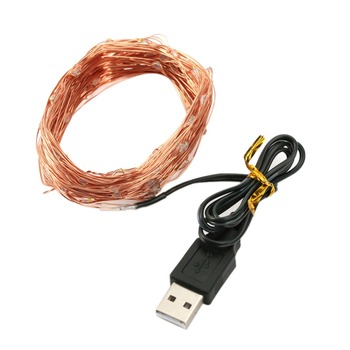 Short Leadtime USB Powered Waterproof 10M 100 LEDS Copper or Silver Wire Low Price 5V Led Fairy Rice Like Light String