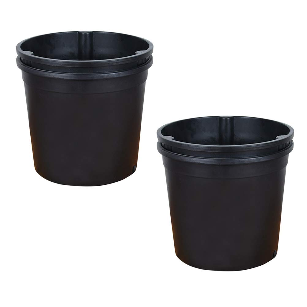 Get Quotations Vosarea 2pcs Plastic Planting Flower Pots With Drainage Nursery Pot Tomatoes Potatoes Seedlings Container Seed