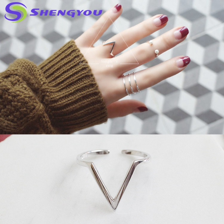 Customized Sterling SIlver Stackable Triangle 3.5 MM Thick Cuff Rings