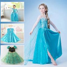 Holčičí kostým Ledové království – Anna a Elsa z Aliexpress