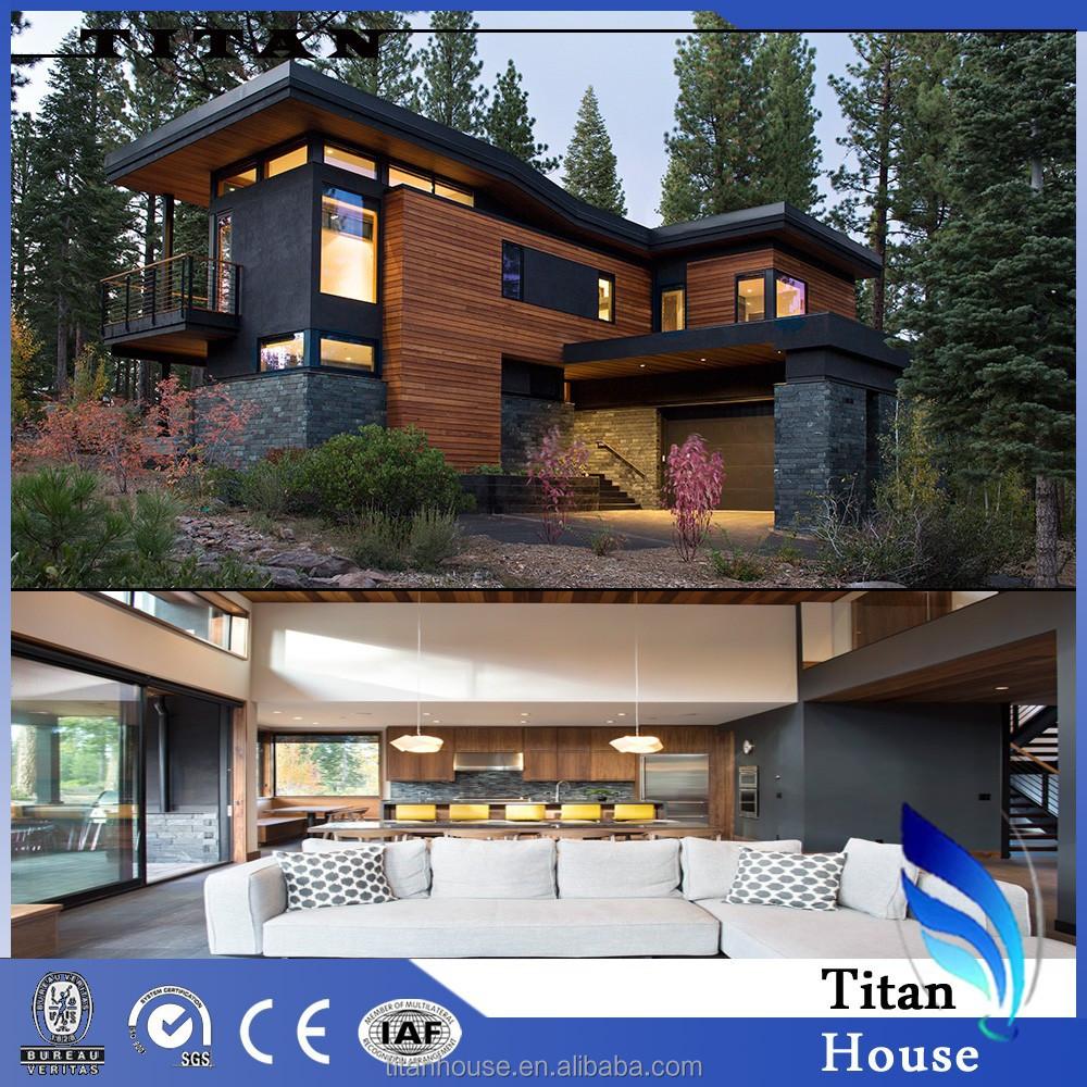 Prefabricada casa barata estructura de acero prefabricada casa casas prefabricadas - Casas de acero precios ...