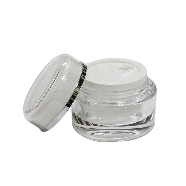 Wholesale custom double wall plastic empty cosmetic cream jar