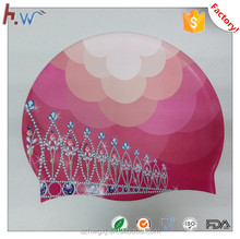 Custom design fashional silicone swim cap