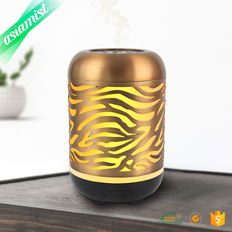 Metal custom essential oil led light aromatherapy diffuser lamp diffuser