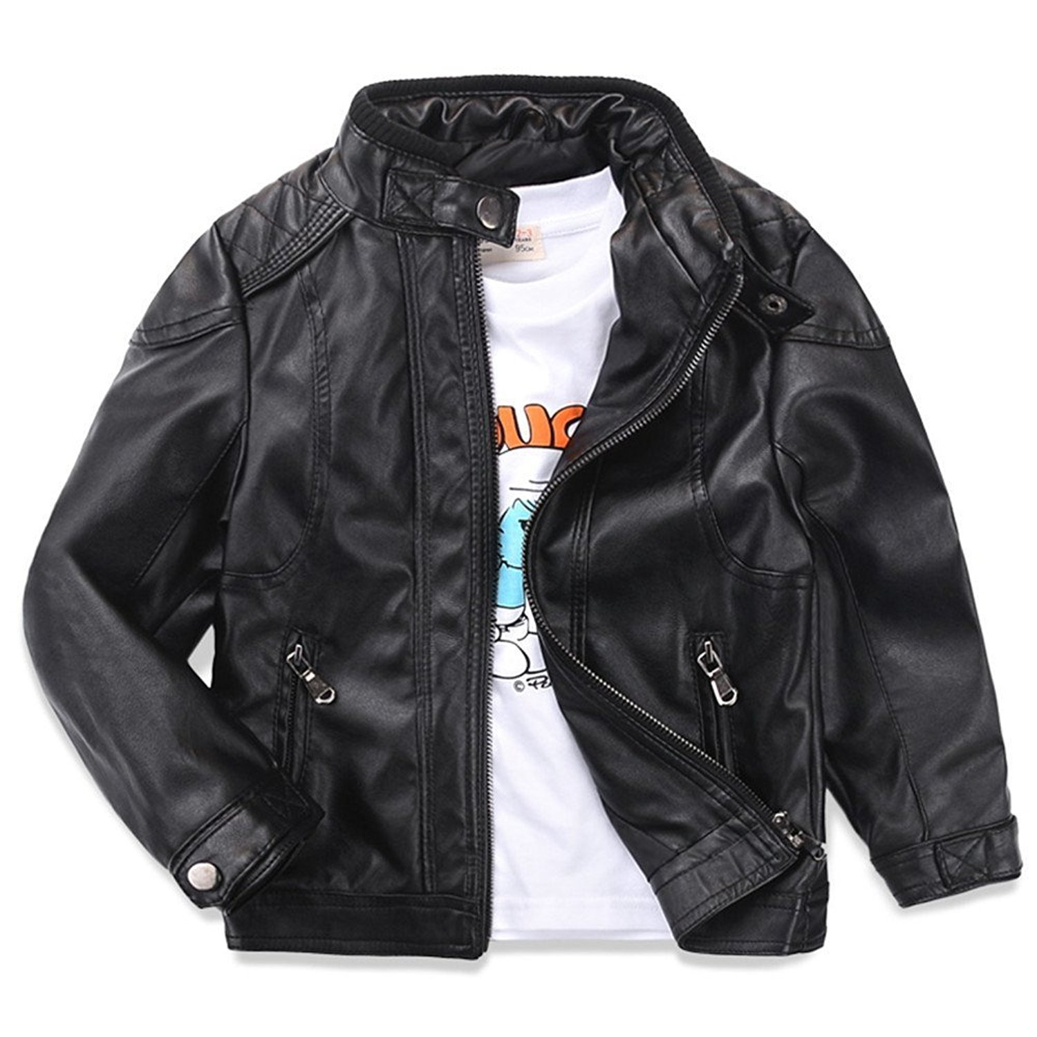 f8656b6e3750 Cheap Leather Coat Boys