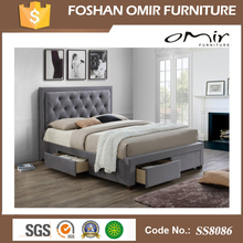 SS8063 oversized bedroom carved wooden furniture malaysia bed frame glides