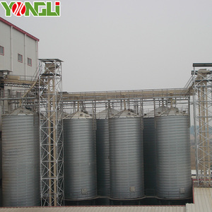 2000 Ton galvanized storage rice corn grain steel silo with conveying system
