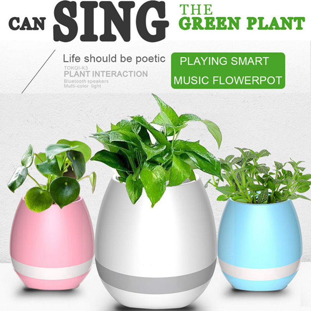 Rechargeable Smart Music Flowerpot Wireless Waterproof Bluetooth Speaker Novelty Speaker Music Player Best Gift
