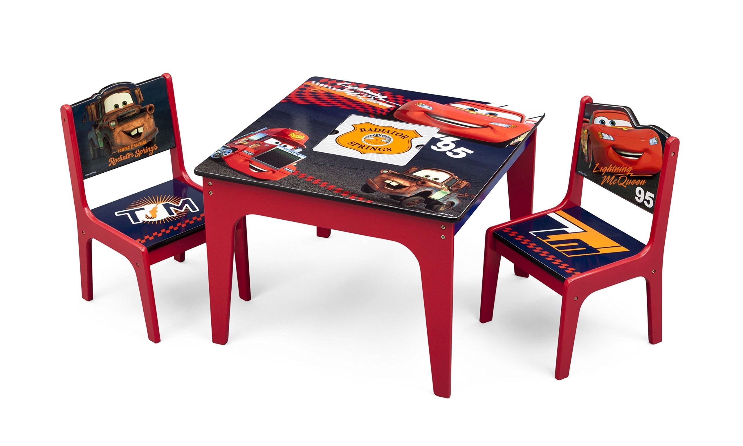Delta Children Deluxe Table & Chair Set with Storage, Disney/Pixar Cars