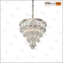 Traditional crystal pendant light 4 layers hanging chandelier light fixture