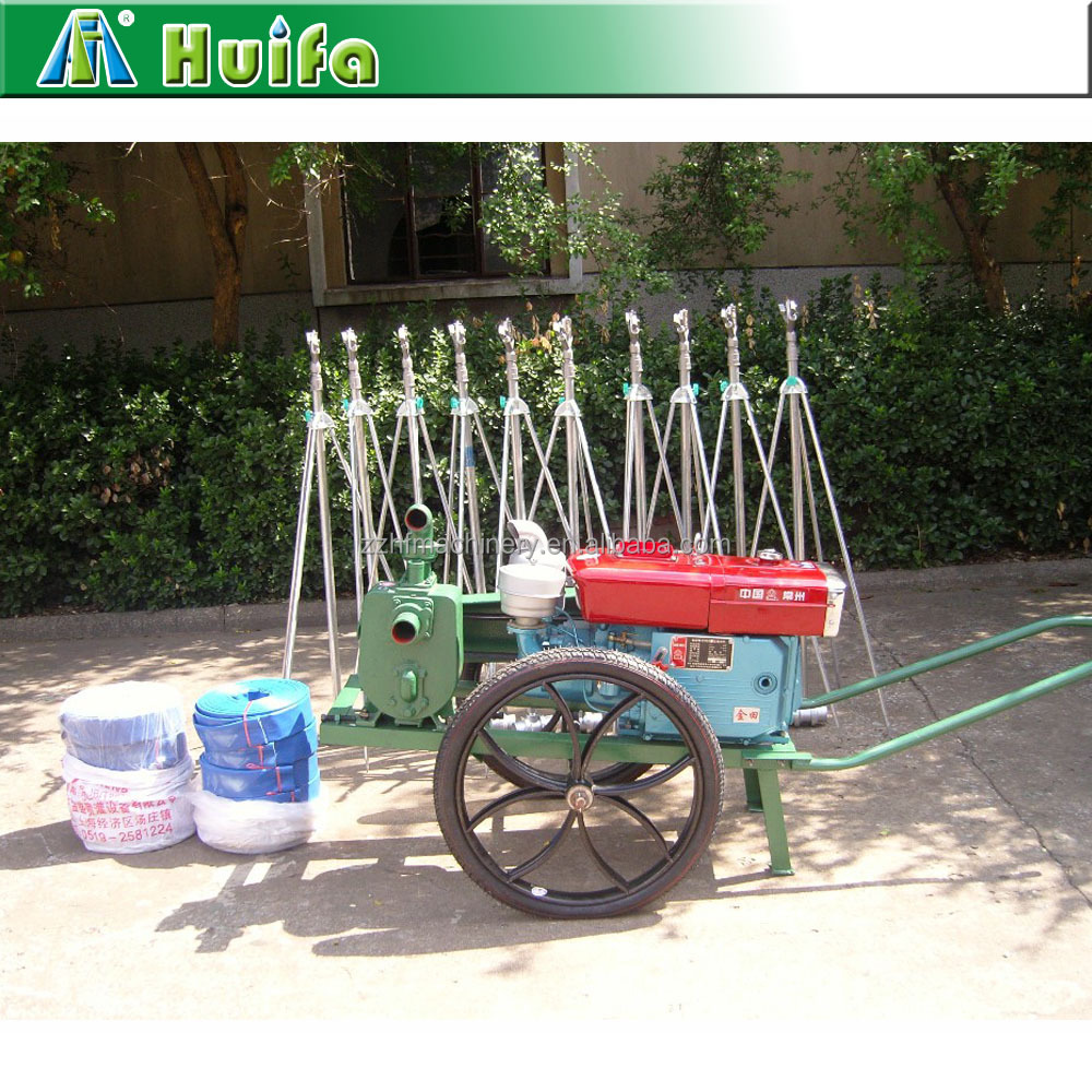 china agricultural machinery 200m-480m farm sprinkler irrigation in india