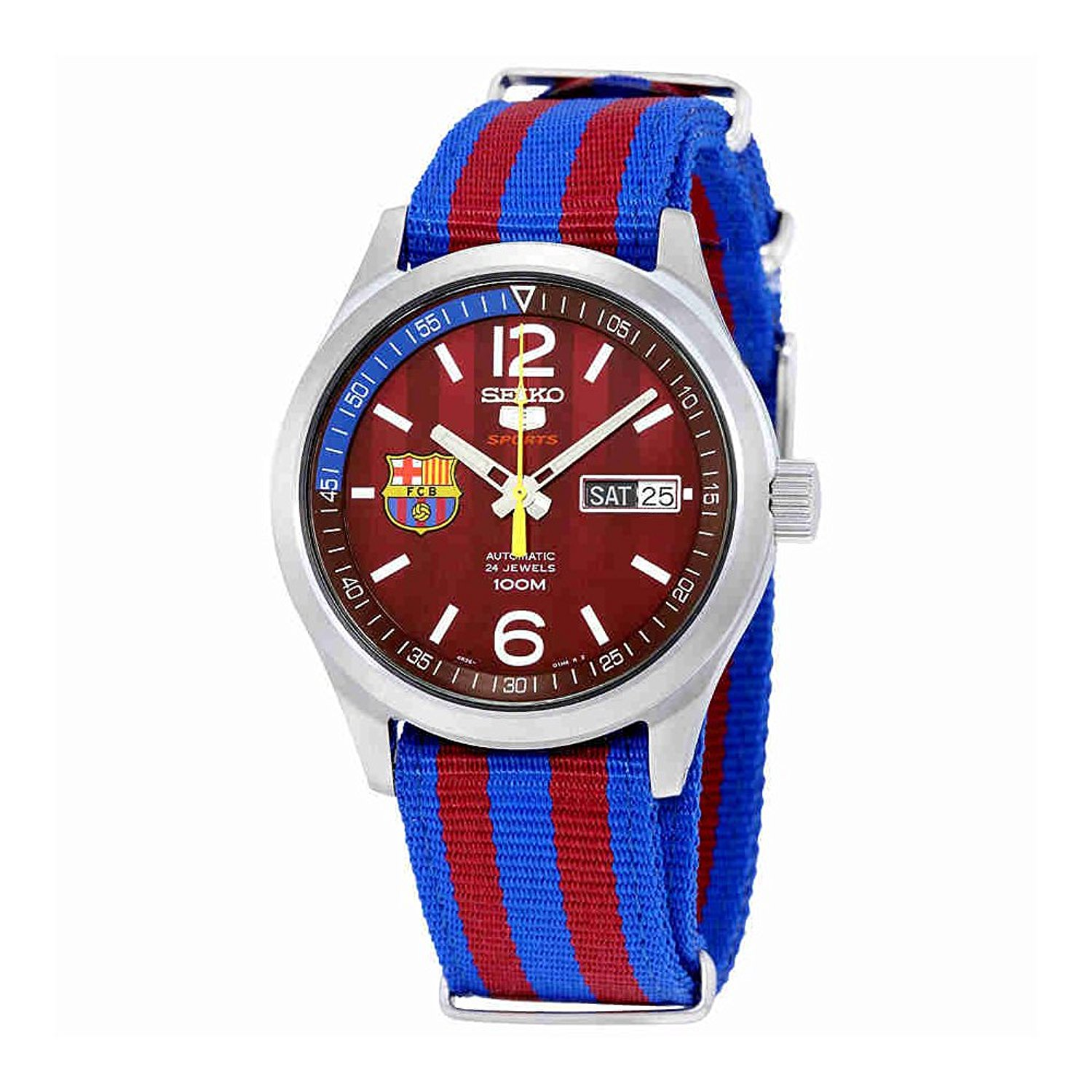 3be5f8c63 Get Quotations · Seiko Sports Military Blue and Red Watch SRP305J1