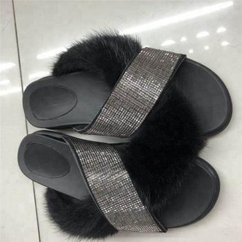 498007fb7f100 Custom Logo Real Mink Fur Slippers Wholesale Fur Slides - Buy Fashion Mink  Fur Slippers Product on Alibaba.com