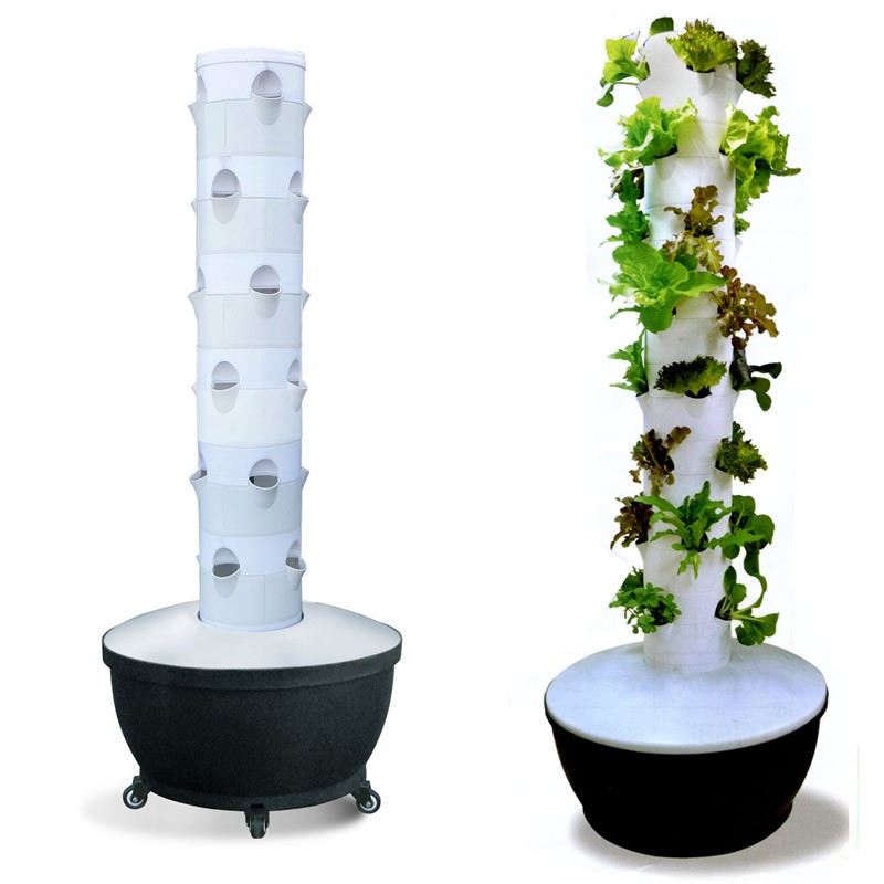 6x6 Hydroponic Vertical Grow Plant Tower Garden Soil Less