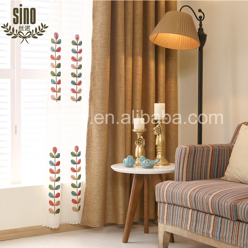 Decorative Jacquard Blackout indian window curtains