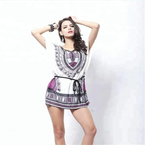 Women summer sexy print cute lady angel casual loose fit dresses
