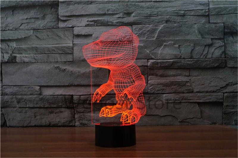 Lampe Figure Pour Cadeau 3d Anime Digimon Chambre Decor Visual Enfants Lumière Table Lightning Agumon Led Nuit Monstre Numérique gfy76bY