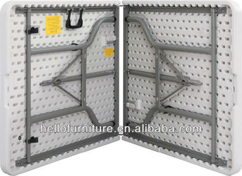 6ft Folding Table   Unique Lock Mechanism   Delivery Packaging With  Polystyrene Side Protection To Prevent