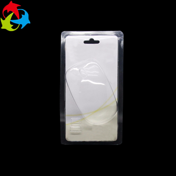 Custom transparent clamshell blister packs hanging plastic clamshell for mouse