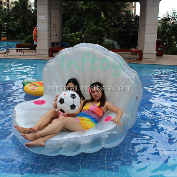 Inflatble seashell float sea shell for photo prop