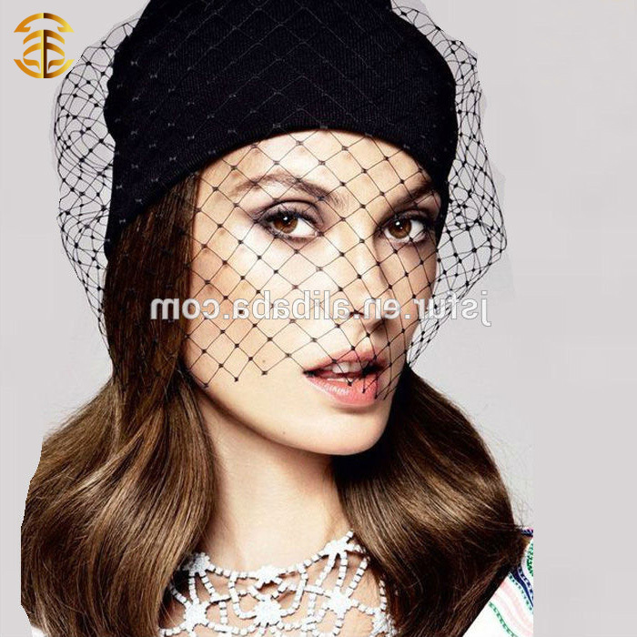 Wholesale China New Fashion Knit Beanie Winter Woman Hat With Veil